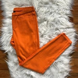 HUE Orange Stretchy Leggings